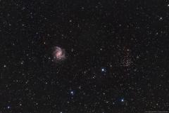24. Galaktyka z gromadką, NGC 6946 oraz 6939 - MarcinPc