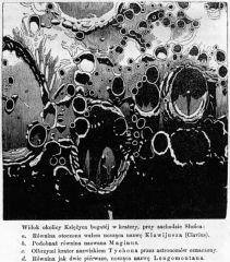 Kratery na Księżycu w dawnych książkach