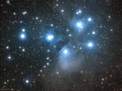4. qbanos - M45 Plejady - moje pierwsze LRGB