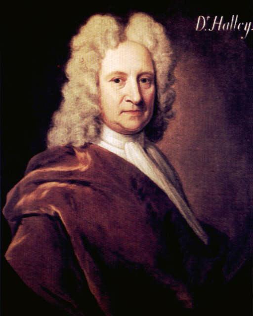 Portet Edmonda Halley'a - obserwatora i badacza komet