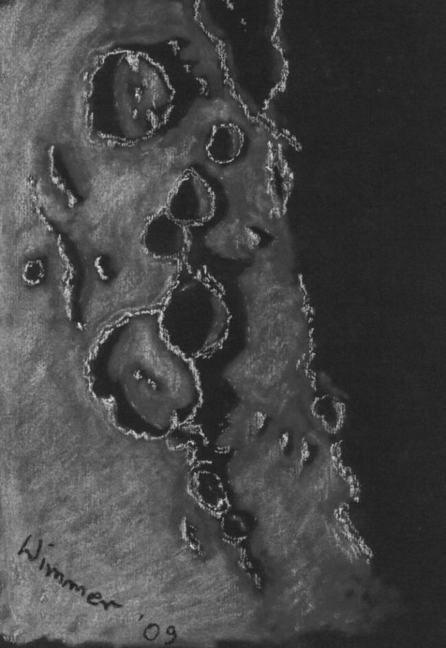 Księżyc - Goclenius, Magelheans...