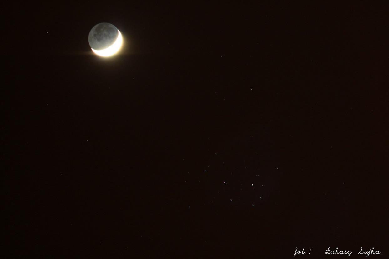 Księżyc i Plejady
