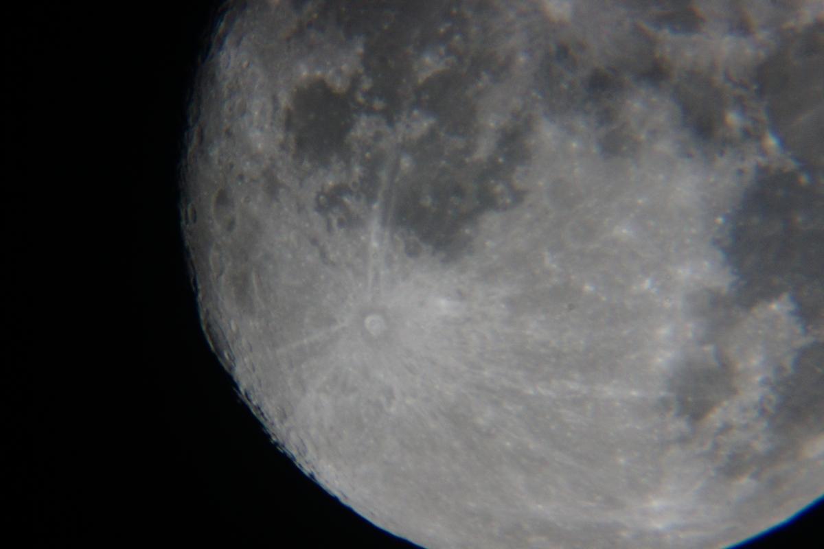 Księżyc, pojedyncza klatka