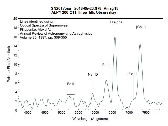 Amatorska spektroskopia supernowych - ważne obserwacje klasyfikacyjne