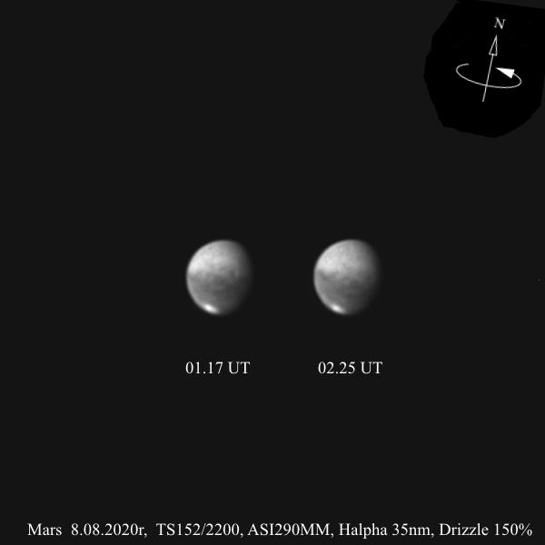 Mars rotacja 1h_031716_Mars 8.08.2020r_TS152F2200_ASI290MM_Halpha 35nm_105%...jpg