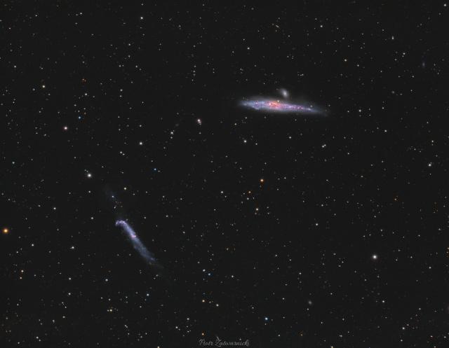 Galaktyki Wieloryb i Kij Hokejowy