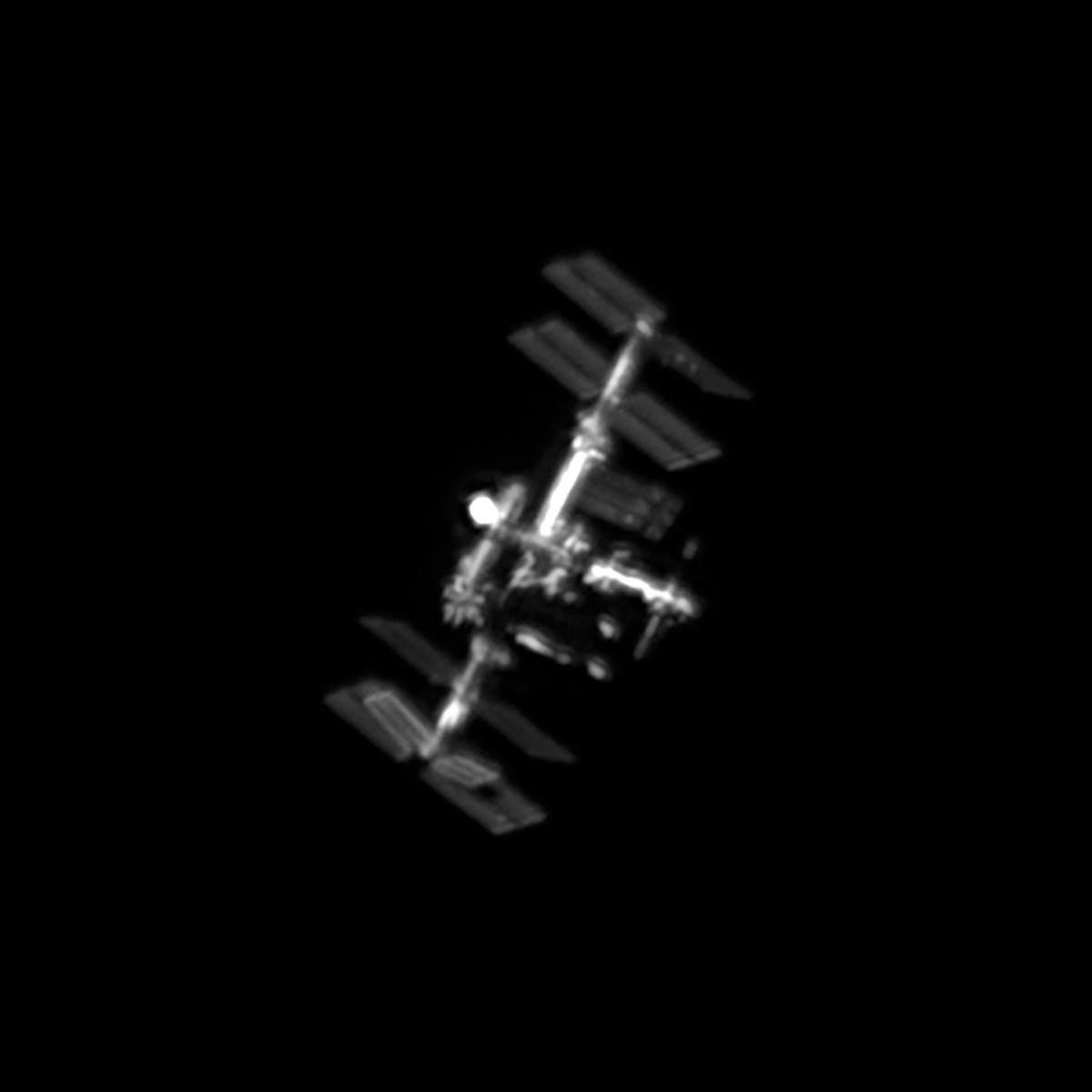 Przelot ISS z ogniskowej 2350 mm