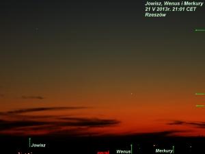 Jowisz Wenus i Merkury 21 V 2013.jpg