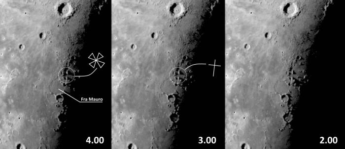 Krzyż na Księżycu koło Fra Mauro_28 lipec_w godzinach 2.00_4.00....jpg